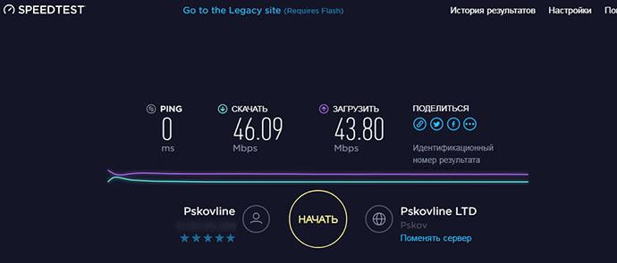 legacy speed test net